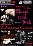 InBrighton Live Presents: A Musical Cabaret @The Marwood: Thur 11 Feb: with Hannah Rose Tristram, Emily Ward (RWAC), Magpie ++