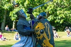 12th Century Knights at the Castle