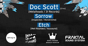 ANSYS x Inna Sound Fundraiser w/ Doc Scott, Sorrow, Etch + more