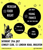 An evening soiree of genuine Mexican food with live music