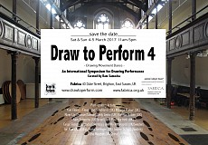 DRAW TO PERFORM 4 - International festival of live Drawing Performance Drawing Movement Dance