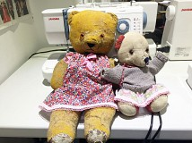 "FREE WORKSHOP: Make a Liberty fabric printed dress for your teddy bear (for a 12"" or 21"" tall bear)"