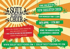 Free taster with fun, friendly pop, soul & gospel choir, shower singers welcome!