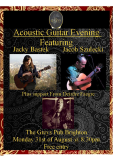 Acoustic Guitar evening with Jacob Szulecki and Jacky Bastek - support from Deirdre Faegre