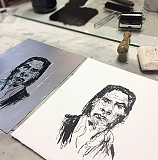 Kitchen Lithography : Drawing with Chocolate