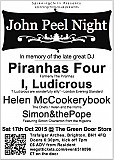 John Peel Night with Piranhas Four, I Ludicrous, Helen McCookerybook and Simon&thePope