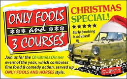 Only Fools and 3 Courses XMAS Special Dinner Event Brighton