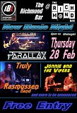 Parallax,Truly Rasmussen band, Jonnie and The Vipers: IB Live