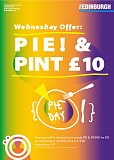 Pie & Drink £10 Wednesdays