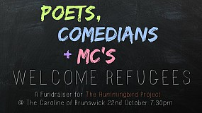 Poets Comedians & MCs Welcome Refugees