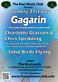 Real Music Club presents Gagarin +  Charlotte Glasson with Chris Spedding + Solid Birds Flying