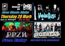 Roxalas, Voodoo Rays, PPZN and More TBA - InBrighton Live