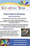School Holiday art workshops and parties