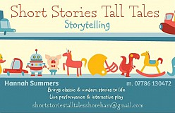 Short Stories, Tall Tales: 2 Shows @ 11.30 & 1.30