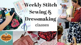 Stitch Weekly Sewing & Dressmaking classes for all levels