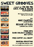 Sweet Grooves: A Free Night of Soul Funk & Disco