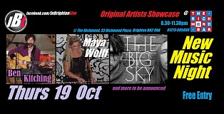 The Big Sky, Maya Wolff, Ben Kitching, and TBA: InBrighton Live