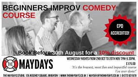 The Maydays CPD ACCREDITED Beginners Improvised Comedy Course
