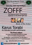 The Real Music CLub Presents ... Zofff + Music of the Andys + Kavus Torabi