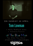 Tom Lowman, Holly Redford Jones and Vanessa Forero at The Blue Man