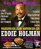 Too Darn Soulful - Eddie Holman live on stage