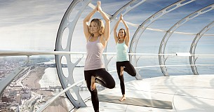 Yoga in the Sky at British Airways i360 Viewing Tower
