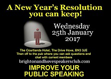 Brighton & Hove Speakers Club Toastmasters Taster