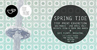 SPRINGTIDE a Tidy Print exhibition at Cafe Plenty.