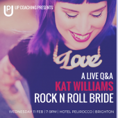 A live Q&A with Kat Williams aka Rock N Roll Bride