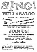 Summer term Open Rehearsals with Hullabaloo Quire and Firefly Burning!