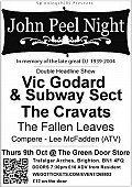 John Peel Night with Vic Godard & Subway Sect, The Cravats, Fallen Leaves