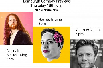 Comedy Previews : Alasdair Beckett-King, Harriet Braine