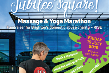 JING Massage & Yoga Charity Festival, Raising money for RISE